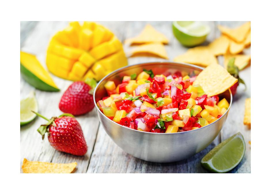 Summer Mango-Strawberry Chile Salsa
